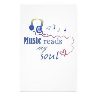 Music READS my soul Stationery