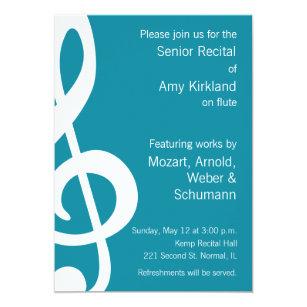 senior recital invitations zazzle