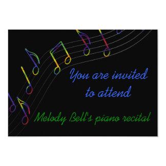 """Music Recital Invitation 5"""" X 7"""" Invitation Card"""
