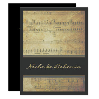 Music Recital Or Concert Sheet Music Invitation at Zazzle