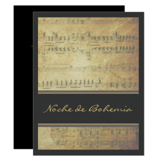Music Recital or Concert Sheet Music Invitation