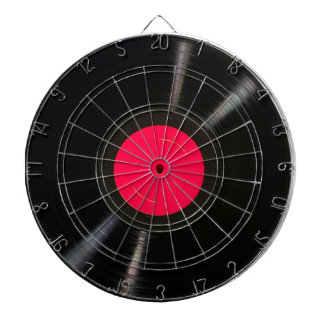 Music Record Dartboard With Darts
