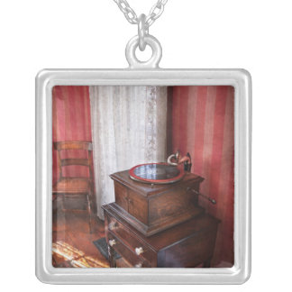 Music - Record - Granny is going to dance later Silver Plated Necklace
