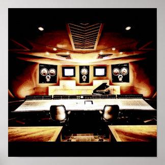 Music Recording Studio Poster