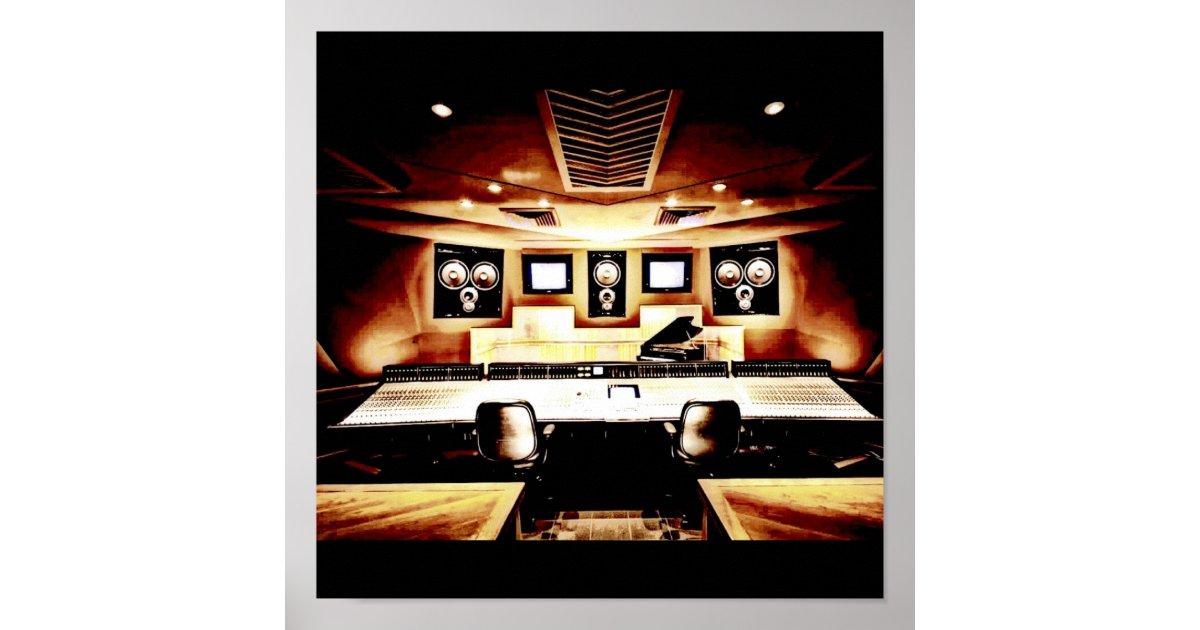 Music Recording Studio Poster Zazzle Com