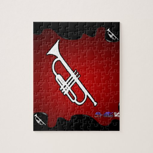 MUSIC RED BACKGROUND PRODUCTS PUZZLE