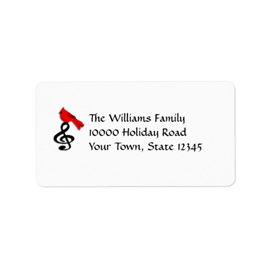 Music & Red Bird Medium Mailing Labels