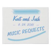Music Requests Sign Minimalist Soft Ambiance Blue
