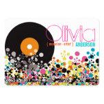 Music Retro Vintage Vinyl Colorful Pop Dots Artist Business Card Template