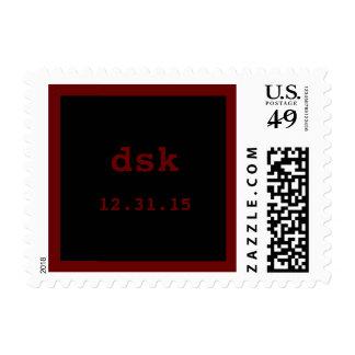 Music Rock Star Red Black Bar Mitzvah Wedding Postage Stamps