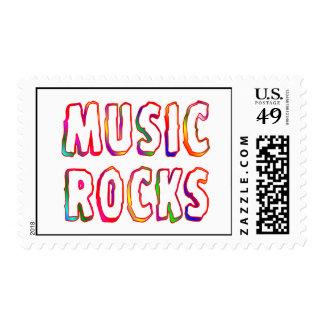 Music Rocks Postage