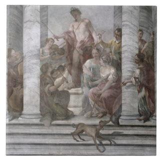 Music Room (fresco) (and detail 60260) Ceramic Tile