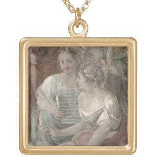 Music Room (fresco) (detail of 60259) Gold Plated Necklace