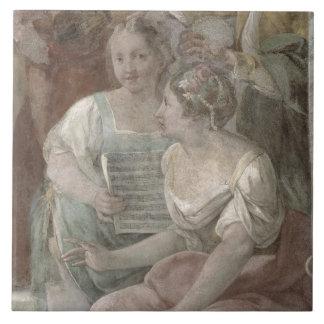 Music Room (fresco) (detail of 60259) Tile