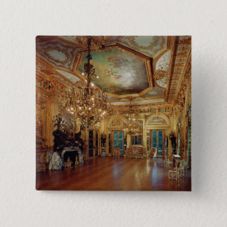 Music room interior pinback button