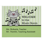 Music Room Welcome Poster