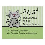 Music Room Welcome Print