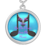 Music Round Pendant Necklace