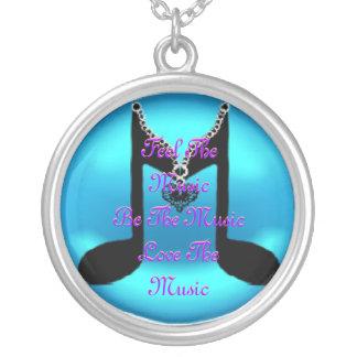 Music Round Pendant Necklace