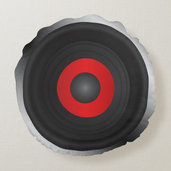 Music Round Pillow