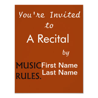 Music Rules black text Card