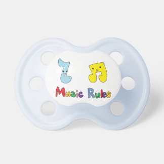 Music Rules Cute Music Notes Pacifier