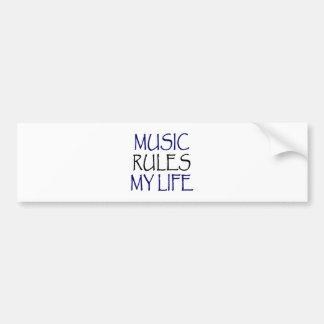 Music Rules My Life Bumper Sticker