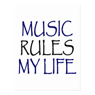 Music Rules My Life Postcard
