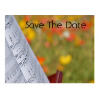 Music Save The Date Postcard
