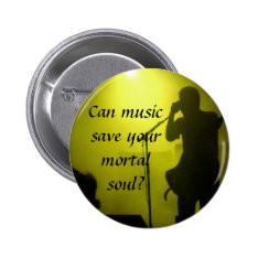 Music Saves Button at Zazzle