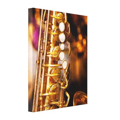 Music - Sax - Sweet jazz Canvas Print