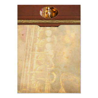 Music - Sax - Sweet jazz Card
