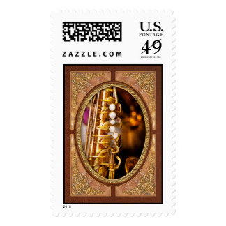 Music - Sax - Sweet jazz Postage Stamps