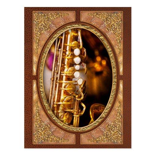 Music - Sax - Sweet jazz Postcard