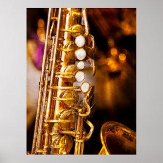 Music - Sax - Sweet jazz Poster