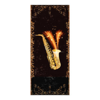 Music Saxophone Card