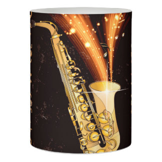 Music Saxophone Flameless Candle