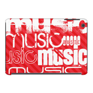 Music; Scarlet Red Stripes iPad Mini Cases