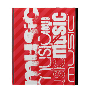 Music; Scarlet Red Stripes iPad Case