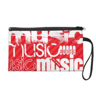 Music; Scarlet Red Stripes Wristlet Purse