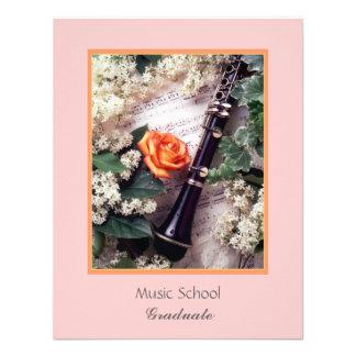 Music School, Graduate Custom Invitation