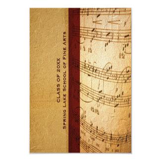 Music School or Performing Arts Academy Graduation 3.5x5 Paper Invitation Card
