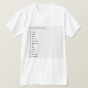 Music School Rankings >> Conservatory Of Music T Shirts T Shirt Design Printing Zazzle