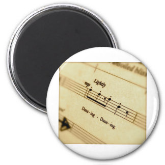 Music Score Art Gifts 2 Inch Round Magnet