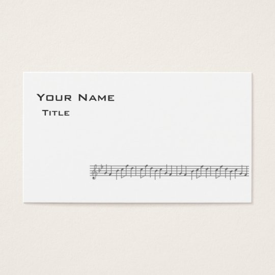 Music Score Business Card-White Business Card
