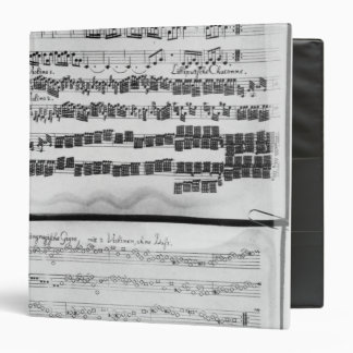 Music score for Telemann's Suite for two 3 Ring Binder