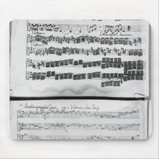Music score for Telemann's Suite for two Mouse Pad
