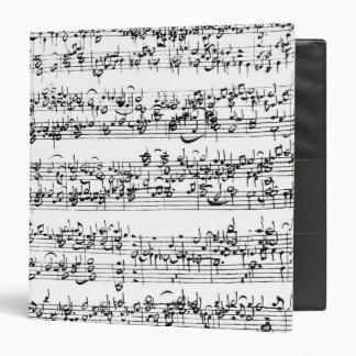 Music Score of Johann Sebastian Bach 3 Ring Binder