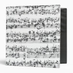 Music Score of Johann Sebastian Bach Binders