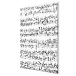 Music Score of Johann Sebastian Bach Canvas Print